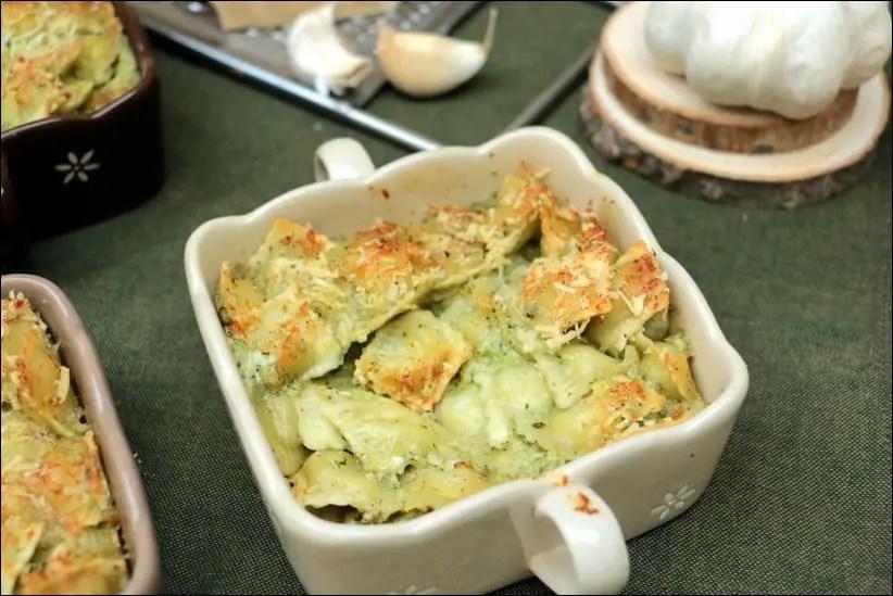 gratin ravioles creme beurre ail