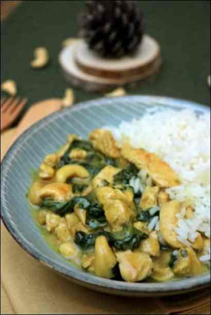 poulet epinards curry
