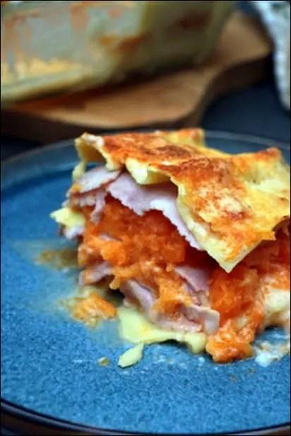 lasagne potiron jambon