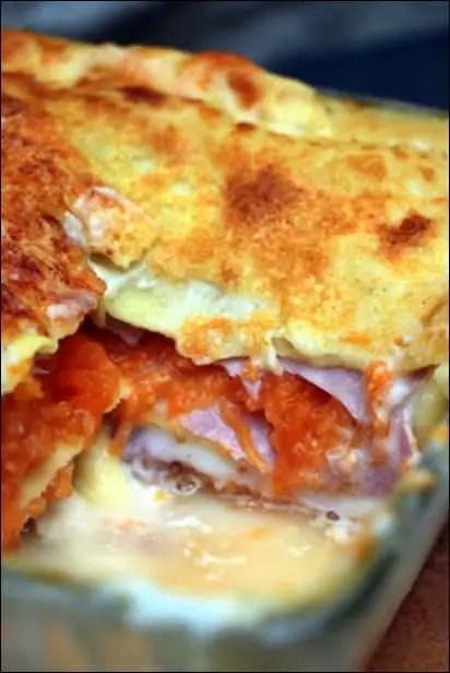 lasagnes courge et jambon