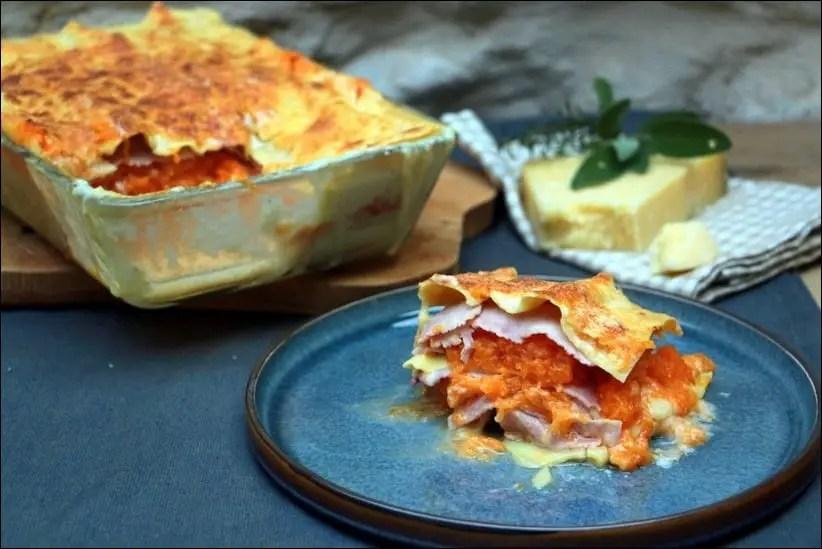 lasagnes jambon potiron cantal