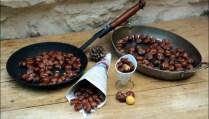 marrons grillés au four ou au feu de bois