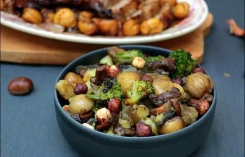 poêlée d'automne aux pommes de terre girolles et marrons