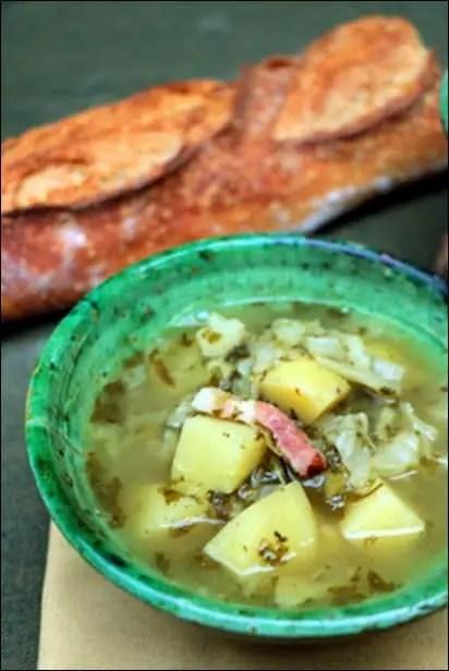 soupe oseille et pomme de terre