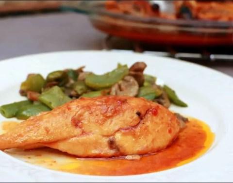 poulet mariné Nouvelle-Orléans