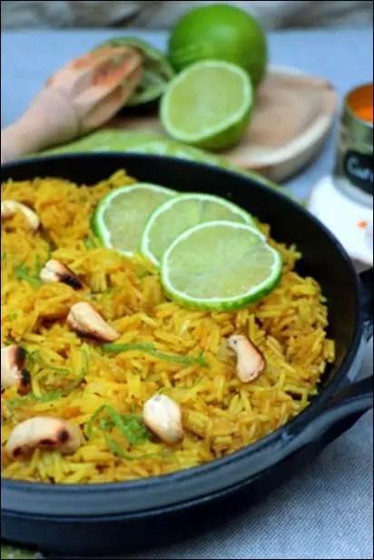 riz jus de citron