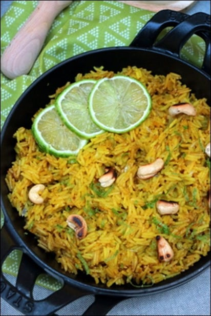riz citron cacahuetes