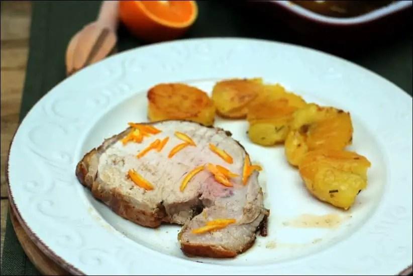 roti porc orange romarin