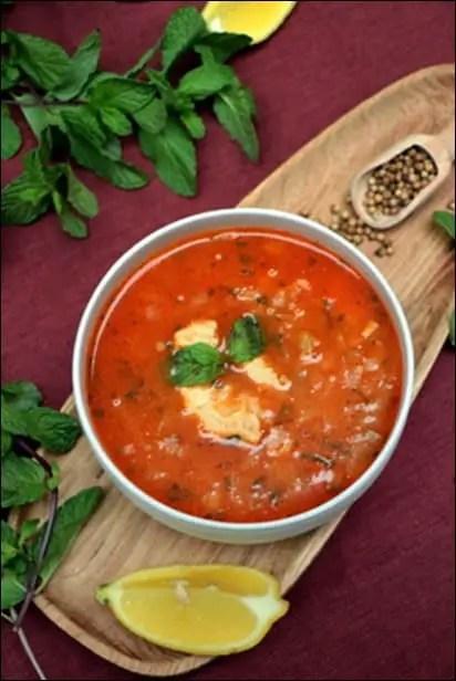 soupe poulet tomate et riz