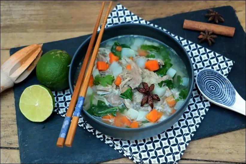 soupe vietnamienne au jambon