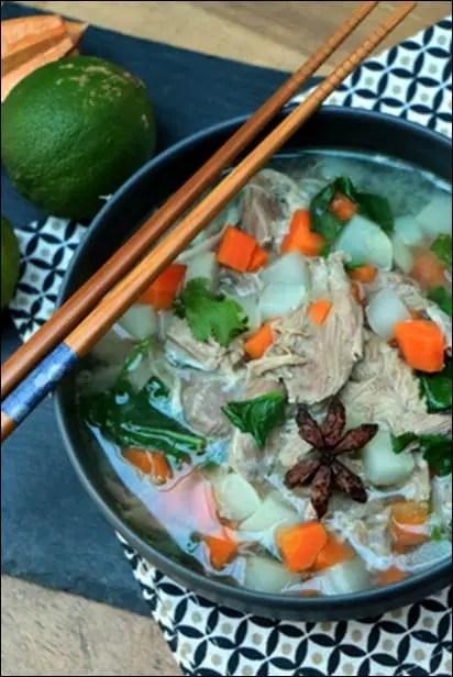 soupe legumes jambon