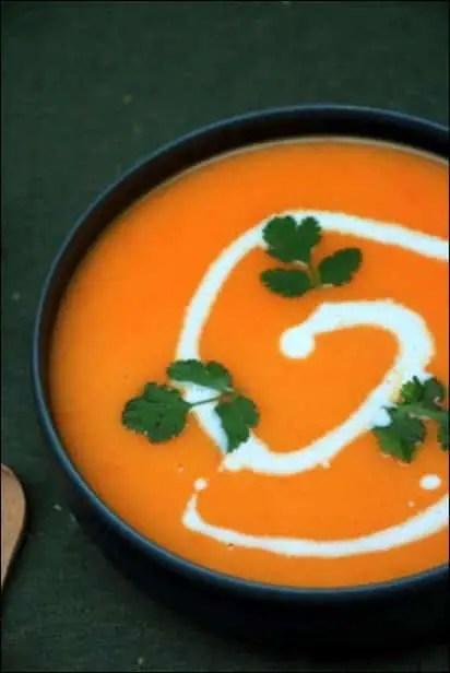 velouté carotte au lait de coco
