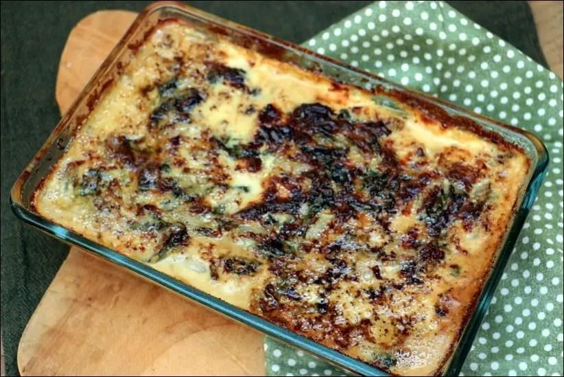 gratin blettes au four