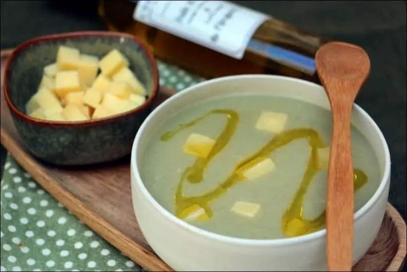 velouté d'artichaut huile de truffe et lardons de Beaufort