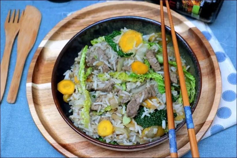 wok de boeuf mariné