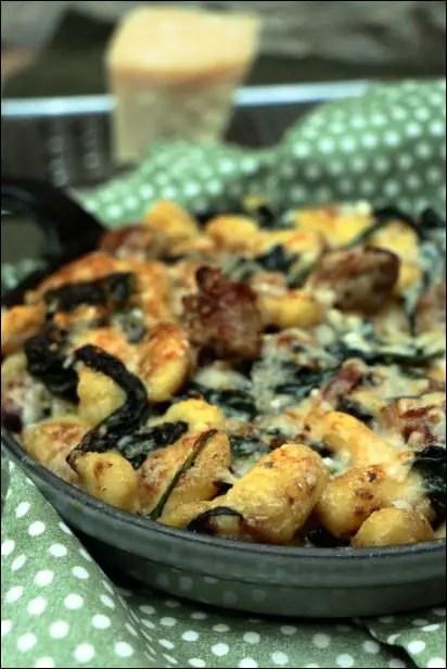 gnocchi aux épinards et parmesan