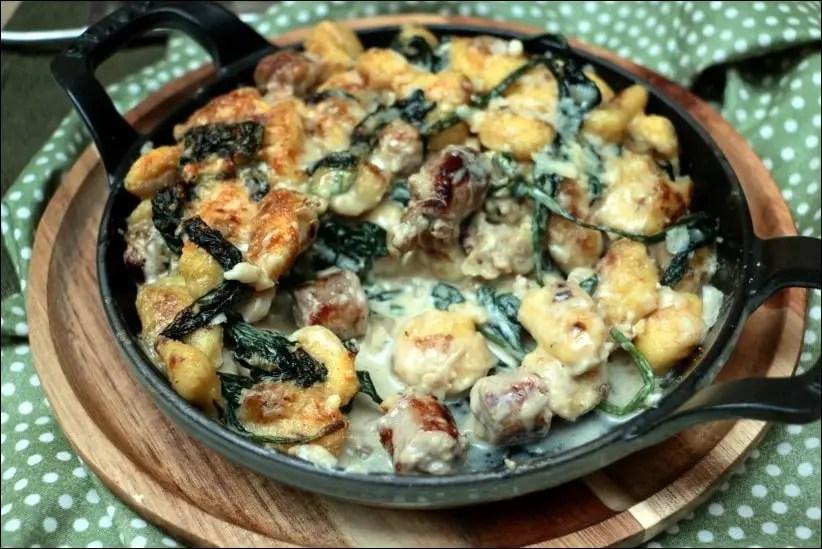 gnocchi saucisse epinard parmesan