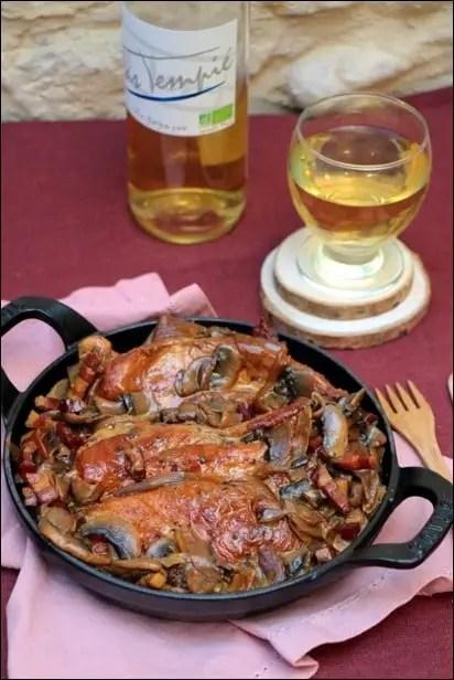 poulet champignon miel