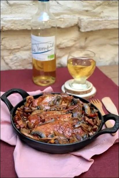 poulet champignon echalote