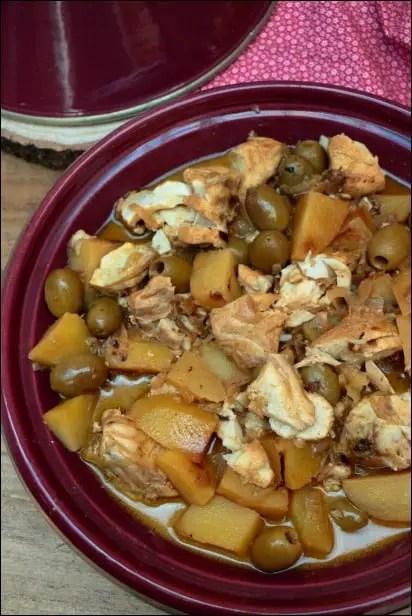 tajine poisson pomme de terre olives