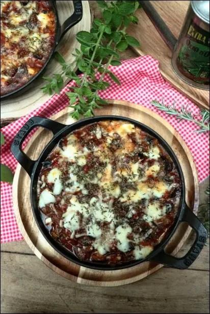 gratin aubergine mozza tomate