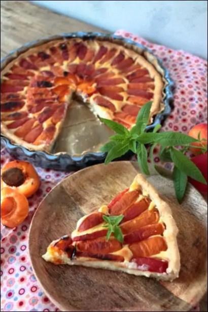 tarte abricot creme patissiere verveine