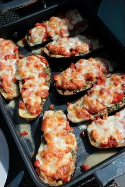 aubergine tomates mozza