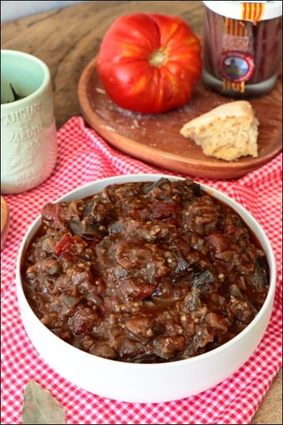 aubergine tomate froide