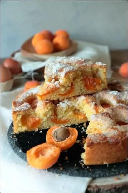 gateau abricot moelleux