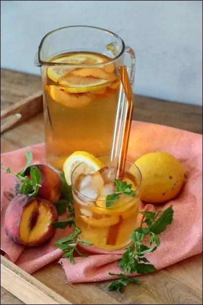 the glace peche citron maison