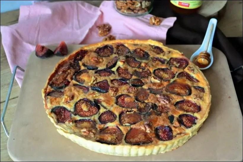 tarte figue chevre