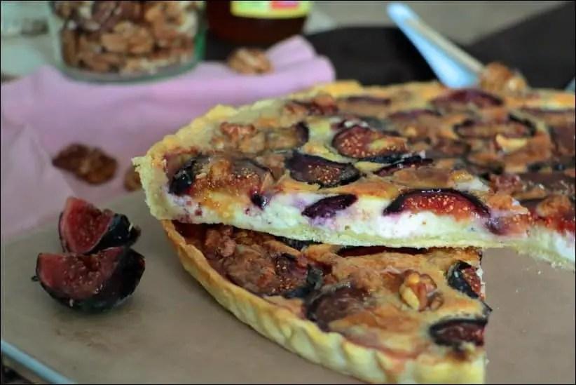 tarte figue chevre noix