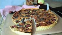 tarte au fromage de chèvre et figues fraîches