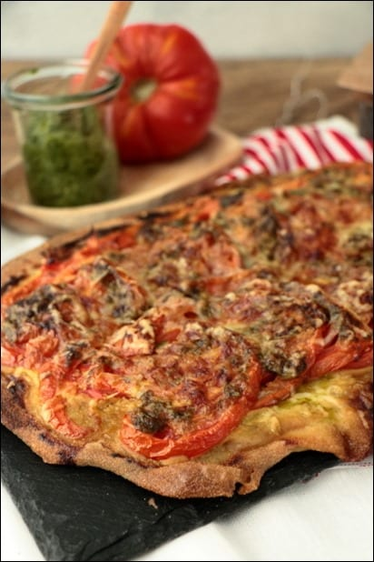 pizza tomate moutarde