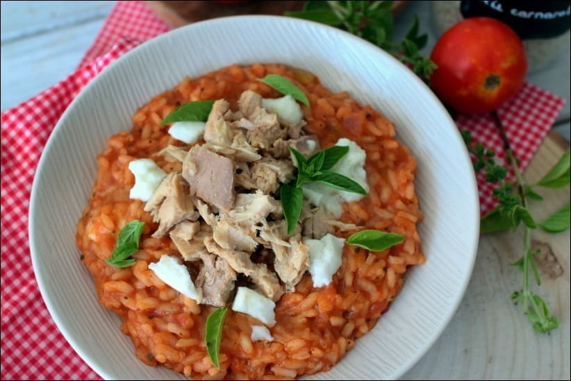 risotto thon olives tomates