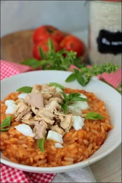 risotto tomate basilic mozzarella