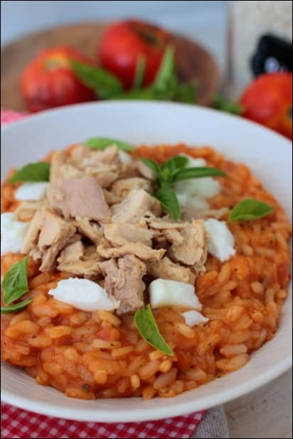 risotto thon sauce tomate