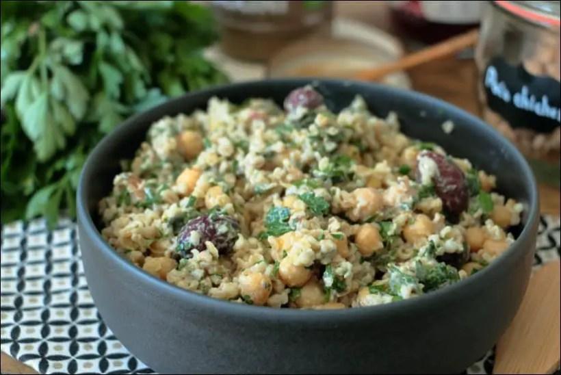 salade pois chiches orientale