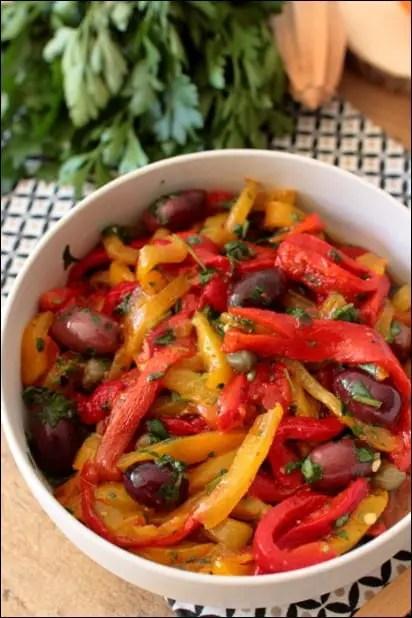 salade d'été poivron