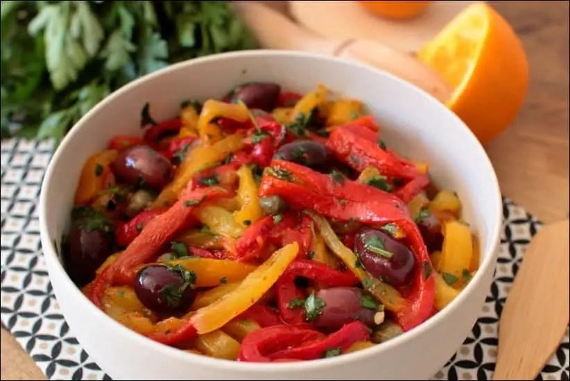 salade poivron orange