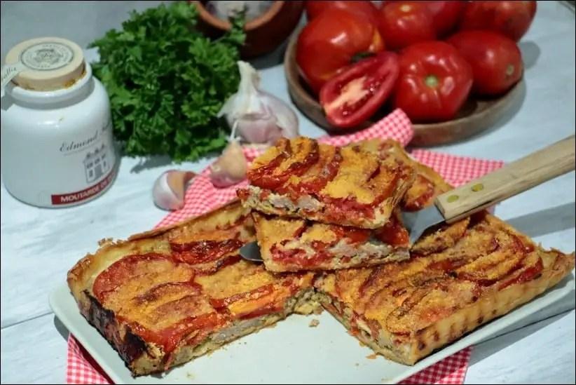tarte tomate et viande hachée