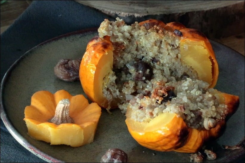 pomarines farcies quinoa marrons