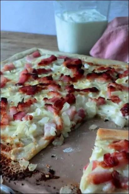 tarte flambée fromage blanc