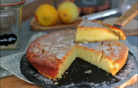 gâteau fondant citron et ricotta