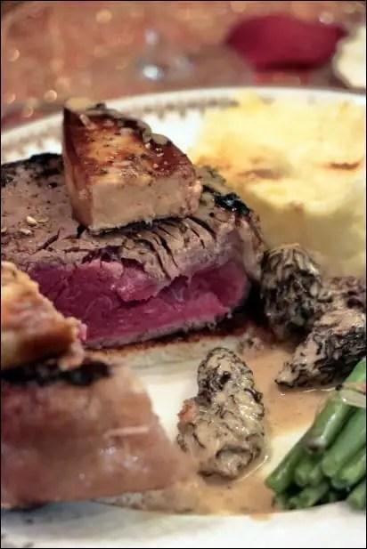 tournedos rossini avec foie gras cru