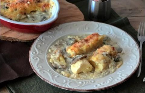 quenelles gratinées aux champignons et sauce Mornay