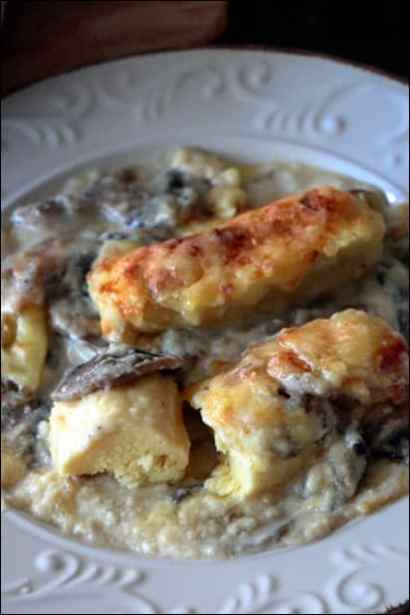 quenelle sauce champignon
