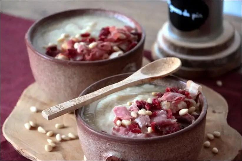 soupe chou fleur pancetta