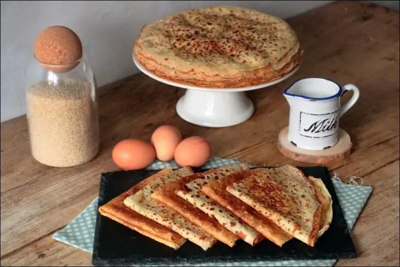 pâte à crêpe zeste orange