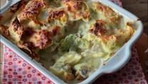 gratin de tortellini au jambon et à la crème